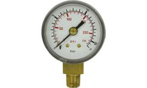 Manometer 40 mm 0-16 bar 1/8´AG Kunststoff